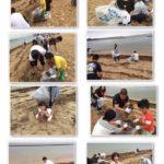 明日、7月17日(日)海の日を前に、別府スパビーチにて海岸海浜清掃奉仕活動を行いました。