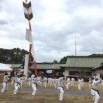 1月14日(日)、大分市の護国神社にて毎年恒例の寒稽古を行いました。
