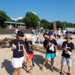 平成30年7月15日(日)、別府スパビーチにて海岸海浜清掃奉仕活動を行いました。