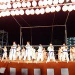 平成30年8月25日(土)「しんせい祭り」にて士道館北部エリアの子どもたちが形と板わりを披露しました。