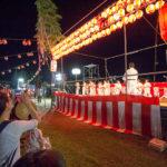 士道館・別府道場「しんせい祭り」での演武(形と板割り)